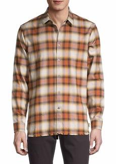 John Varvatos Plaid-Print Shirt