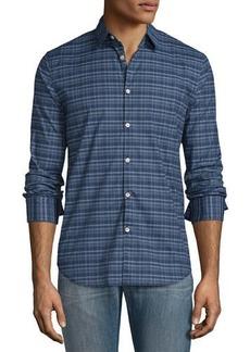 John Varvatos Plaid Slim-Fit Sport Shirt