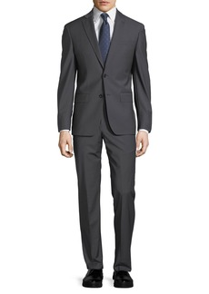 John Varvatos Plain Two-Button Wool-Blend Suit