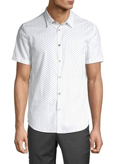 John Varvatos Polka Dot Cotton Button-Down Shirt