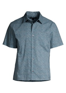 John Varvatos Polka Dot Short-Sleeve Shirt