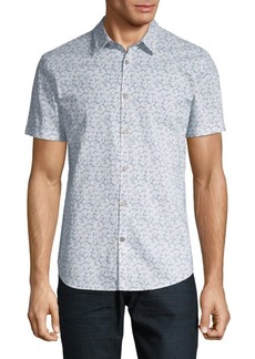 John Varvatos Printed Cotton Button-Down Shirt