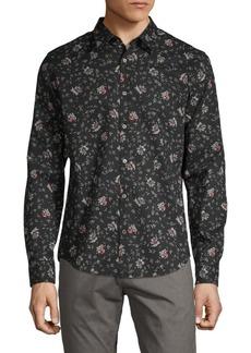 John Varvatos Printed Long-Sleeve Shirt