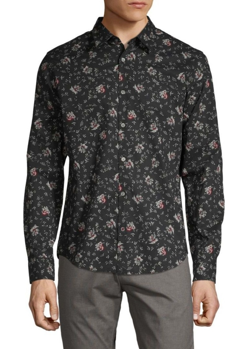 John Varvatos Printed Long-Sleeve Shirt