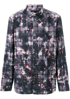 John Varvatos printed plaid shirt