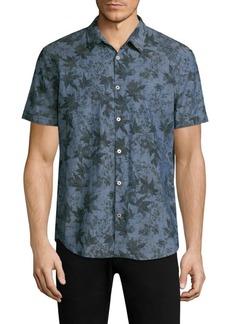 John Varvatos Printed Short-Sleeve Shirt