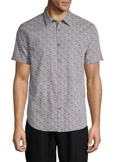 John Varvatos Printed Short-Sleeve Woven Shirt