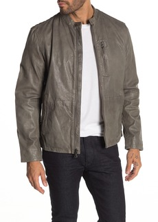 John Varvatos Racer Sheep Leather Jacket