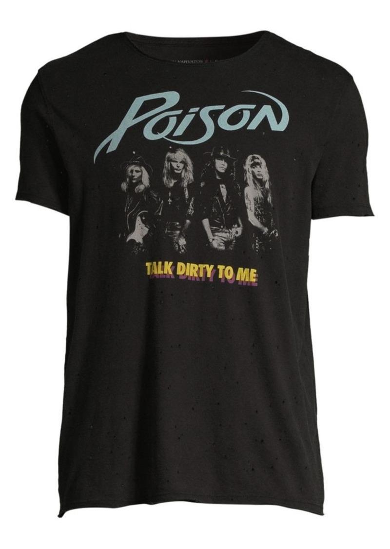 Raw Edge Vintage Wash Poison Talk Dirty T-Shirt