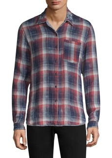 John Varvatos Red Double-Faced Reversible Button-Down Shirt