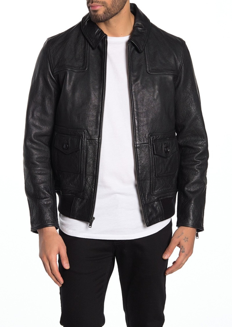 John Varvatos Reese Leather Jacket