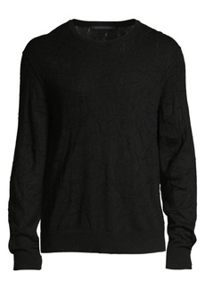 John Varvatos Regular-Fit Bristol Mercerized Crackle Stitch Sweater