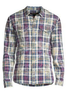 John Varvatos Regular-Fit Plaid Shirt