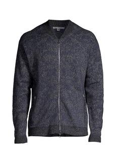 John Varvatos Regular-Fit Melange Zip Jacket