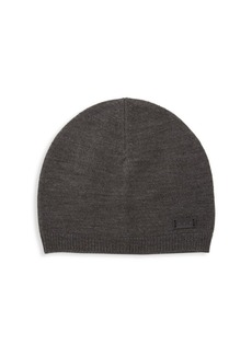 John Varvatos Ribbed Wool-Blend Beanie