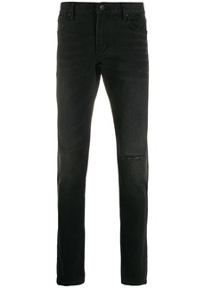 John Varvatos ripped detail trousers
