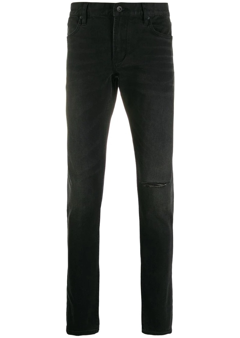 John Varvatos ripped detail trousers