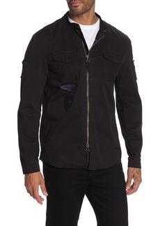 John Varvatos Rodes Patchwork Shirt Jacket
