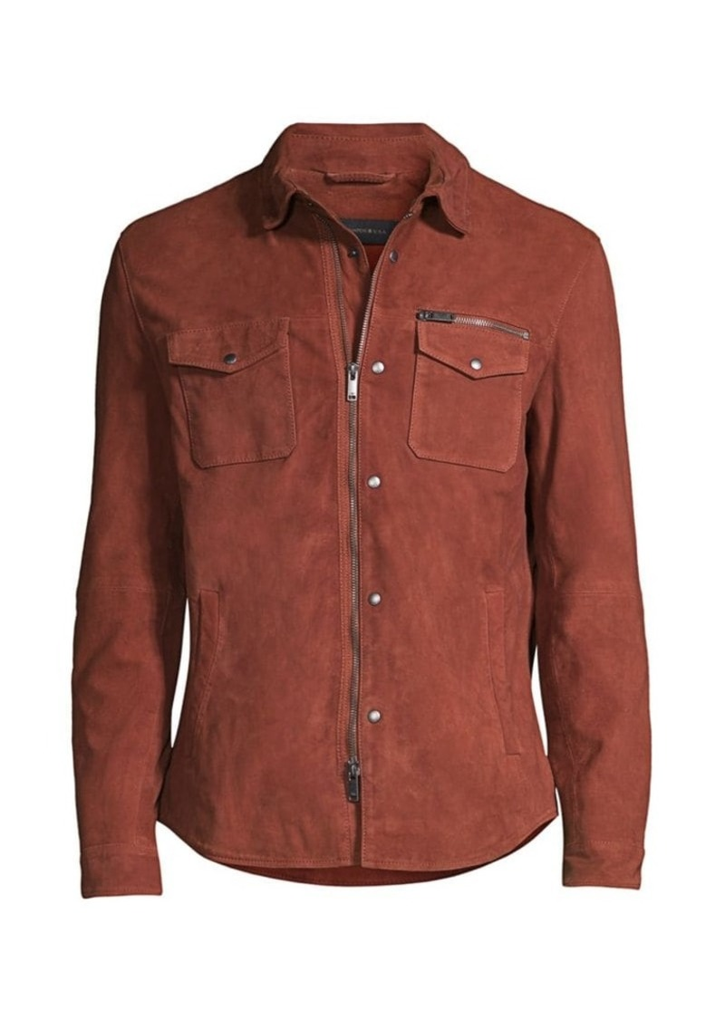 John Varvatos Shilo Suede Zip-Up Jacket