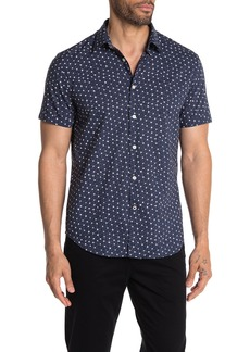 John Varvatos Short Sleeve Button Front Shirt