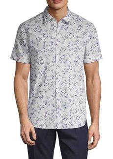 John Varvatos Short-Sleeve Floral Shirt