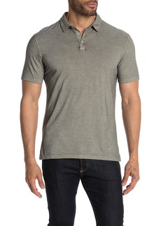 John Varvatos Short Sleeve Gunpowder Wash Polo
