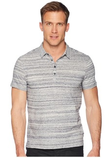 "John Varvatos Short Sleeve Polo Shirt Random Stripe ""Siro"" K3655U1B"