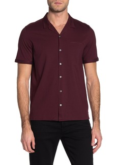 John Varvatos Short Sleeve Regular Fit Camp Shirt