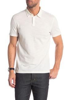 John Varvatos Short Sleeve Textured Polo Shirt