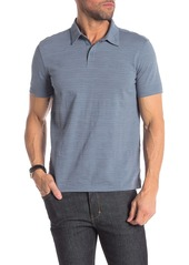 John Varvatos Short Sleeve Textured Polo Shirt