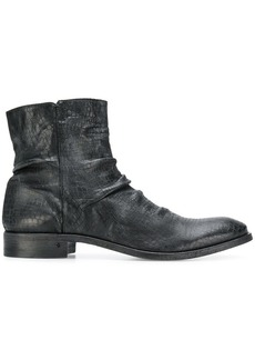 John Varvatos side zip ankle boots