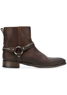 John Varvatos side zip buckle ankle boots