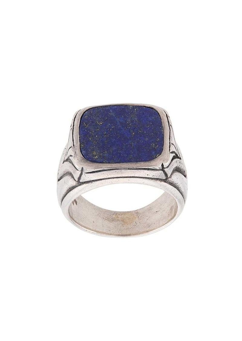 John Varvatos signet engraved ring