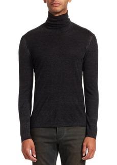 John Varvatos Silk Cashmere Turtleneck Sweater