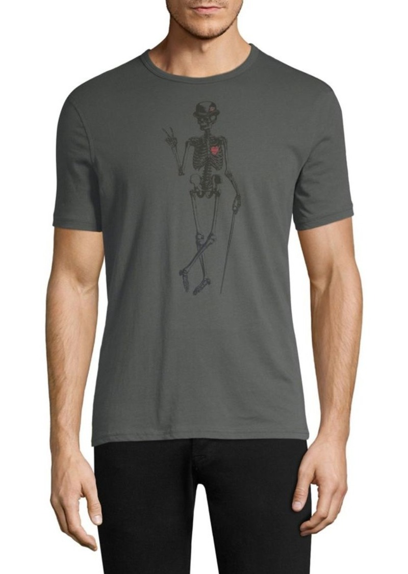 John Varvatos Skeleton Peace Graphic Cotton Tee