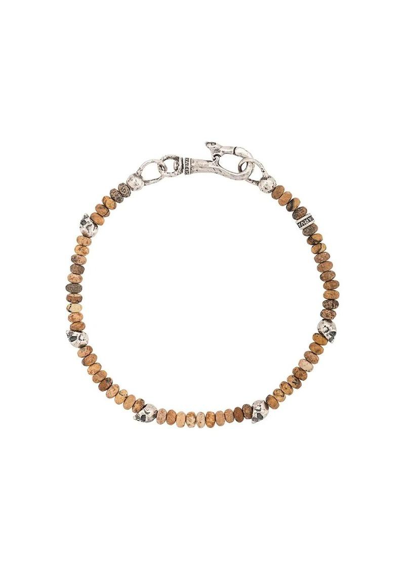 John Varvatos skull charm beaded bracelet