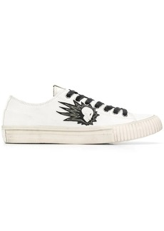 John Varvatos skull embroidered sneakers