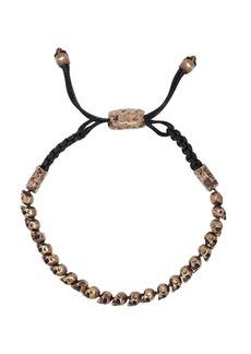 John Varvatos Skulls & Daggers Beaded Brass Bracelet