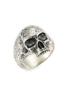 John Varvatos Skulls & Daggers Silver Skull Ring