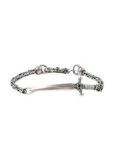 John Varvatos Skulls & Daggers Sterling Silver Dagger Bracelet