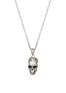 John Varvatos Skulls & Daggers Sterling Silver Pendant Necklace