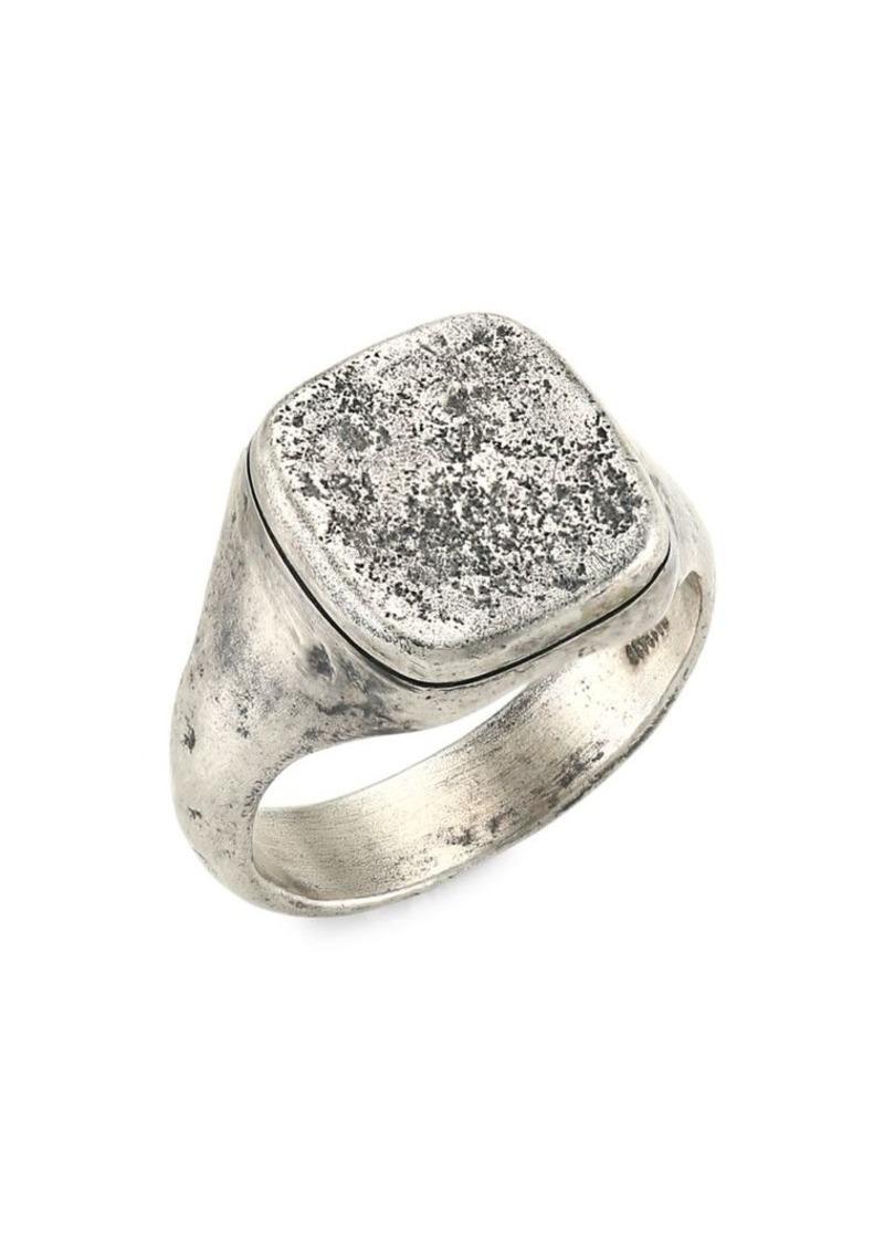 John Varvatos Skulls & Daggers Sterling Silver Signet Ring