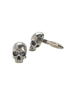 John Varvatos Skulls & Daggers Sterling Silver Skull Cufflinks
