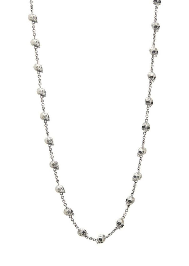 John Varvatos Skulls & Daggers Sterling Silver Skull Necklace