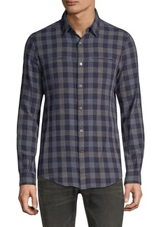 John Varvatos Slim-Fit Button Up Check Shirt