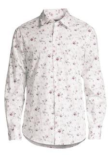 John Varvatos Slim-Fit Floral Sport Shirt