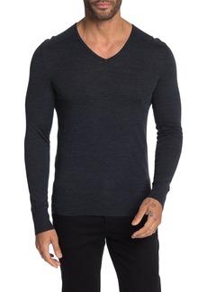 John Varvatos Slim Fit Long Sleeve Merino Wool V-Neck Sweater