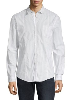 John Varvatos Slim-Fit Pinstripe Button-Down Shirt