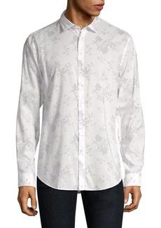 John Varvatos Slim-Fit Printed Button-Down Shirt