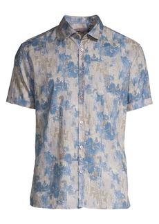 John Varvatos Slim-Fit Short Sleeve Linen Button-Down Shirt